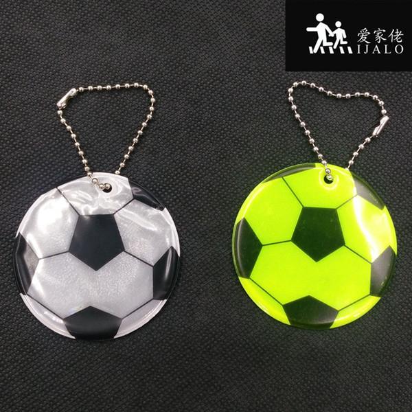Bolso decorativo bolso colgante reflectante accesorios Llaveros reflectantes llavero modelo de fútbol seguro