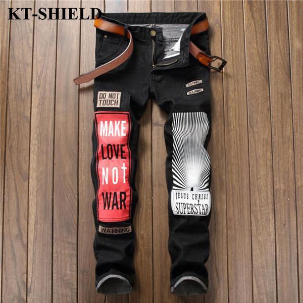 Men Skinny Jeans Brand Clothes Fashion Denim Mens Hip Hop Jeans Casual Men Harem Pants Designer Hip Hop Large Size 29-38