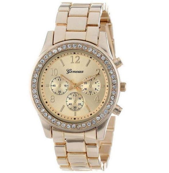 Fashion Classic Watches Women Quartz Steel 37mm Brand Designer Rhinestone Watch Girls Relogio Luxury Wristwatch for Sale