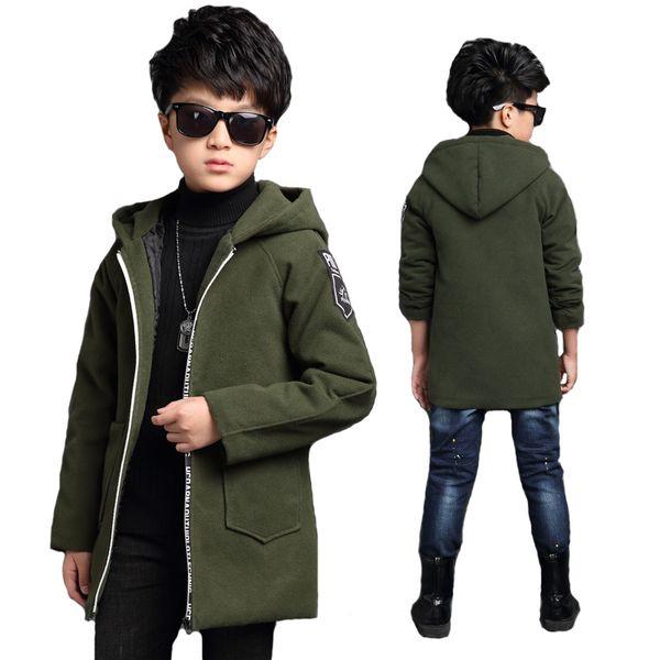 Primavera Autunno Giacche Per Ragazzi Active Lettera Cappotto Cappotto Per Bambini Capispalla Big Boy Jacket 6-15Y Abbigliamento per bambini