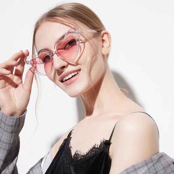 ROSANNA 2018 New Fashion Love Heart Sunglasses Women cute sexy retro Cat Eye Vintage cheap Sun Glasses Pink Shades female UV400 Glasses R716
