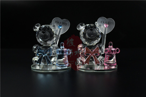 50pcs K5 Crystal Bear Nipple Baptism Baby Shower Souvenirs Party Christening Giveaway Gift For Guest