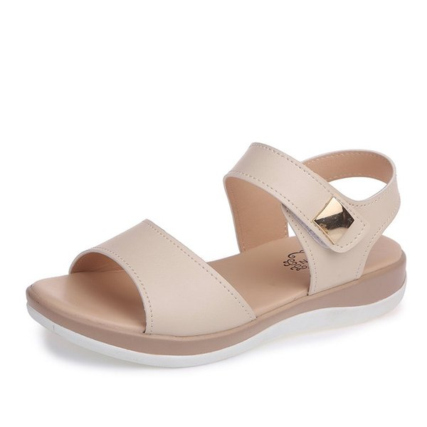 Korean version of the thin women's shoes fish mouth flat non-slip sandals female students soft bottom comfortable wild beach shoes