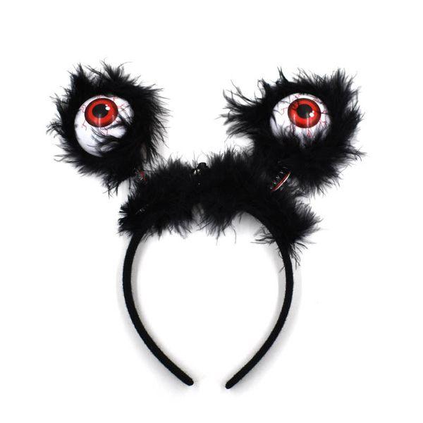 Halloween LED Hairband luminoso Eyeball Fascia Hair Hoop Costume Accessori Bomboniere (colore casuale) Spedizione gratuita QW8514