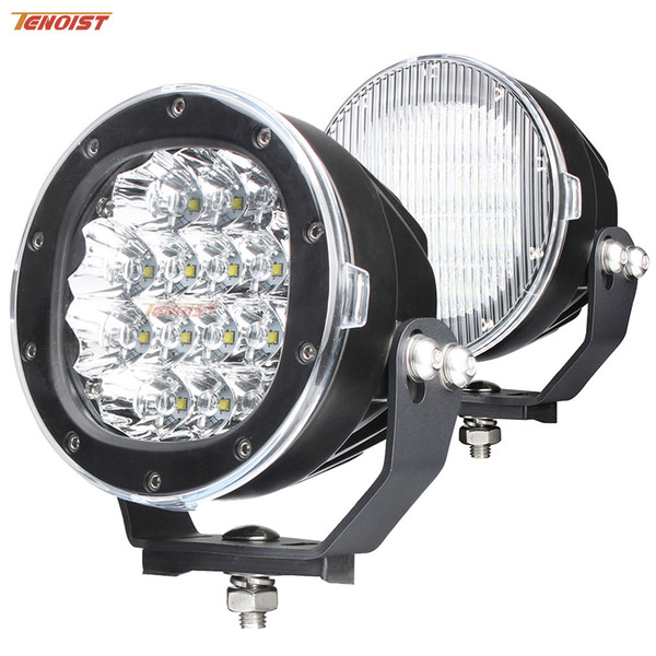 Black Shell 5 Inch Cree Chips 80W LED Front Bumper Work Light For Wrangler Truck ATV UTV Car 12V 24V