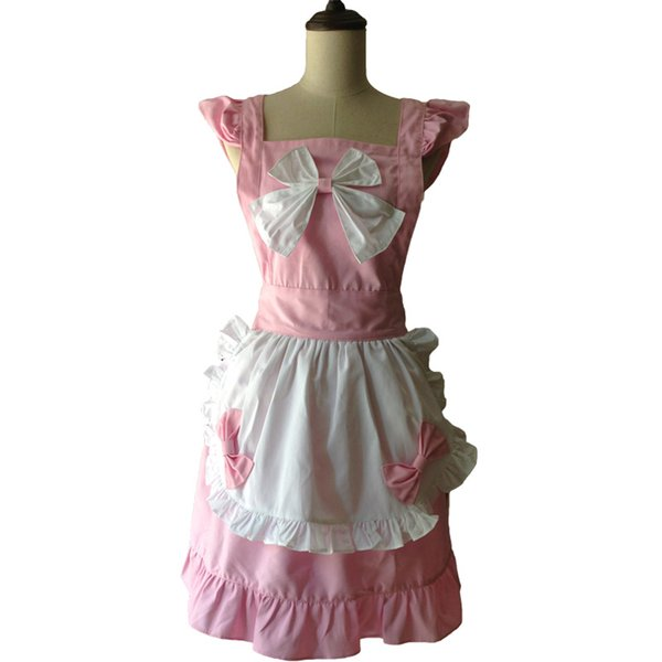Fashion Kitchen Apron Woman Lovely Bowknot Waitress Salon Hairdresser Cooking Avental de Cozinha Divertido Pinafore