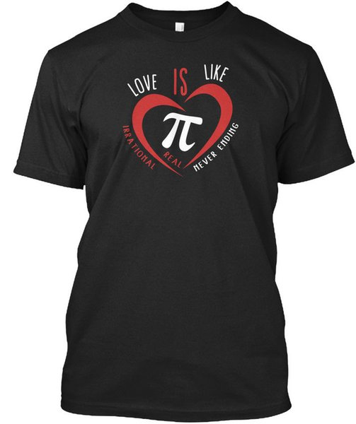 Valentines Day Gift Love Is Like Pi Standard Unisex T-Shirt