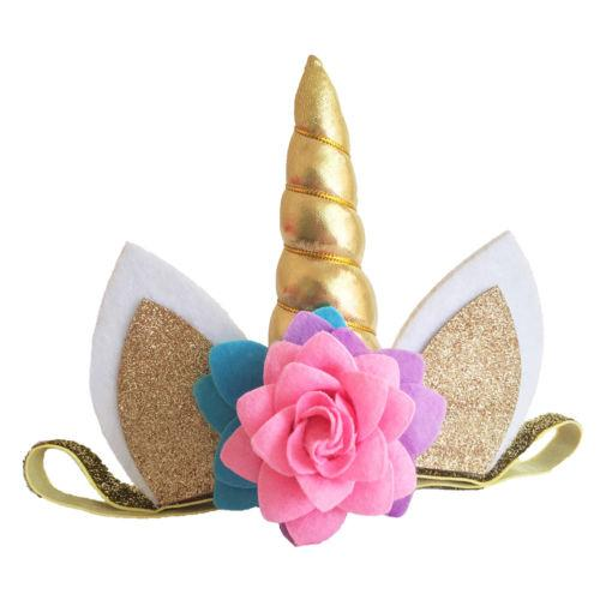 Magical Unicorn Horn Head Party Hair Headband Fancy Dress Cosplay Decorative Headwear
