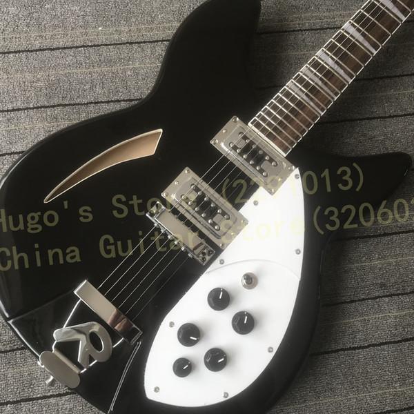 Acheter En Stock Guitare 6 Cordes Noire 330 Livraison Gratuite De
