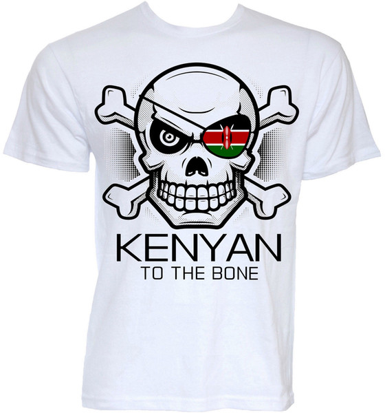 KENYAN T-SHIRTS MENS FUNNY COOL NOVELTY KENYA FLAG SLOGAN JOKE REGALOS REGALOS T-SHIRT Envío gratis divertido Unisex Casual camiseta de regalo