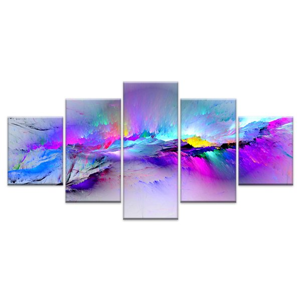Wall Pictures For Living Room Abstract Canvas Painting Clouds Colorful Canvas Art Home Decor Artwork Y18102209