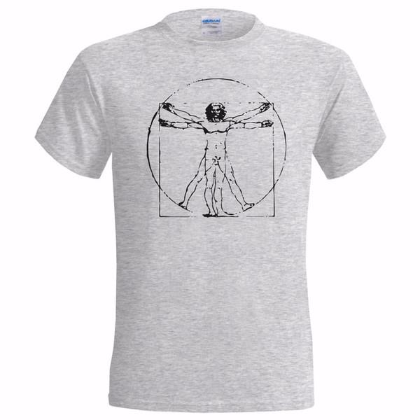 Compre Da Vinci Vitruvian Hombre Camiseta Leonardo Artista Inventor ...