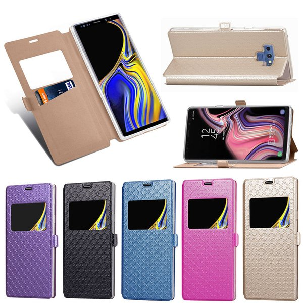 Caller Display Open Window Vertical Wallet Leather Cases For Iphone XR XS MAX X 8 7 Galaxy S10 Lite Note 9 S9 Flip Card Slot Holder Cover