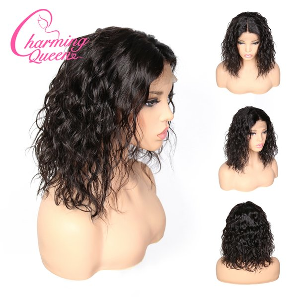 Slove Hair Brazilian Lace Front Human Hair Wigs For Black Women Remy Natural Wave Short Bob Wigs Pre Plucked With Baby Elegant Queen