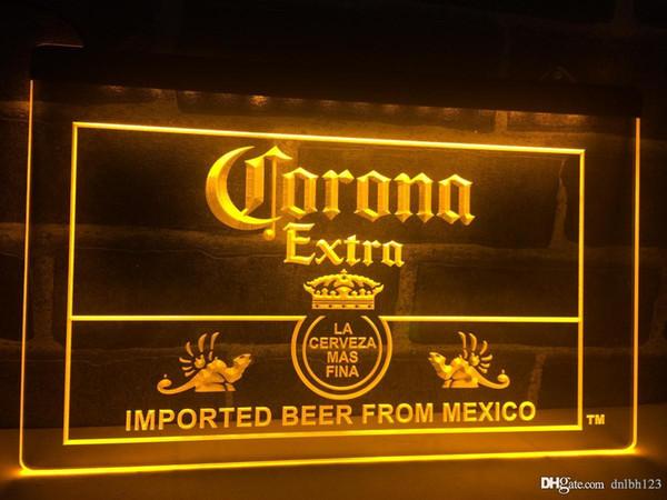 LE040y- Corona Mexico Beer Bar Pub Club LED Luz de neón