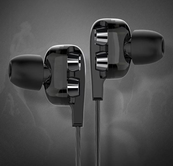 Vierkern-Subwoofer Doppelschleifen-Kopfhörerstecker K Song HiFi-Telefon Universal Männer und Frauen