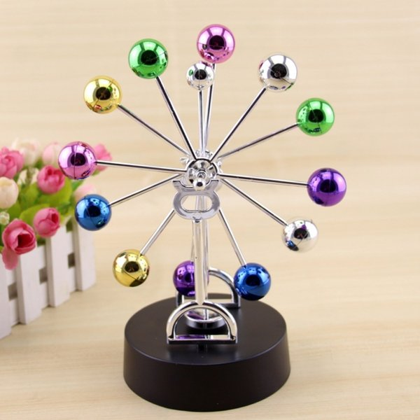 Colorful Ferris Wheel, colorful Ball large permanent instrument Pole-less swing device Office Home Desktop furnishings