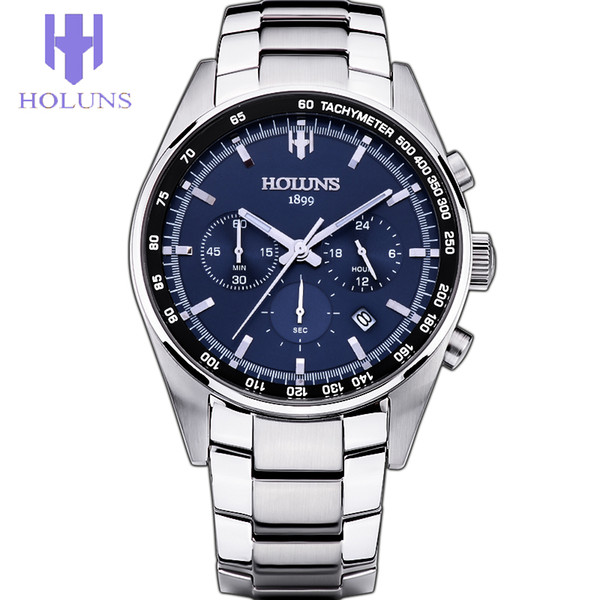 Mens Watches Top Brand Luxury Men fashion Quartz Watch Blue Dial Silver Steel Watches tools for watchmakers relogio masculino/ss