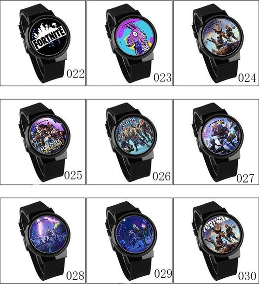 Game fortnite cartoon watch new fa hion teenage party wri t watche electronic watche jewelry for kid 63 color