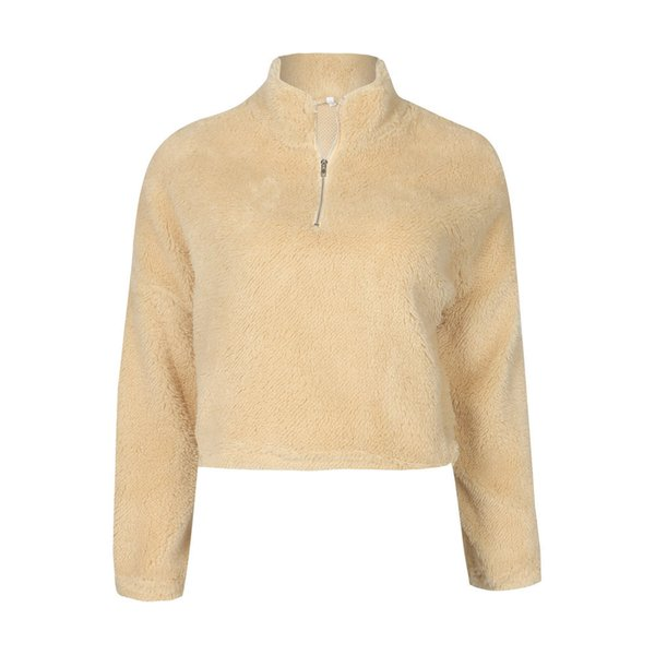 European and American fashion autumn winter sweater sexy high neck zipper Plush long sleeved sweater ZC2853