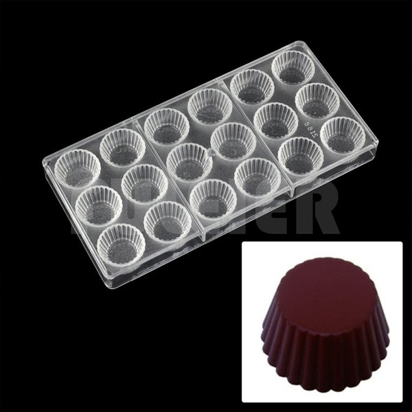 Cupcake shaped candy chocolate mold , baking pastry tools DIY making confectionery plastic polycarbonate chocolate mold