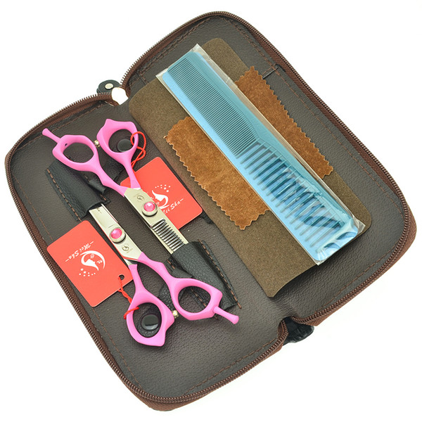 6.0 Inch Meisha Best Hair Scissors Set Professional High Quality Japanese Cutting Clipper Barbers Thinning Shears Trimming Tesouras HA0435