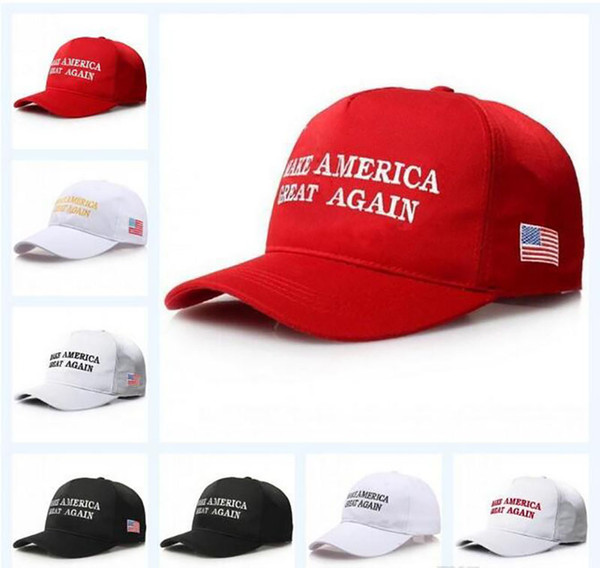 top popular Make America Great Again Letter Hat Donald Trump Republican Snapback Sports Hats Baseball Caps USA Flag Mens Womens Fashion Cap DHL Free 2019