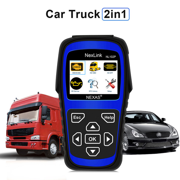 New Truck Diagnostic Tool NL102P DPF/Oil Reset for Diesel Heavy Duty Truck Scanner Car Diagnosis 2 in 1 Code Scan Tool