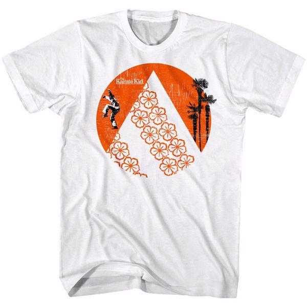 Karate Kid Rising Sun Palms Fiori Maglietta da uomo Daniel-San Larusso Cobra Kai