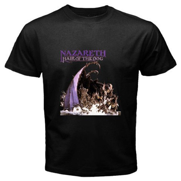 New Nazareth Hair Of The Dog Rock Band Classic Men's Black T-shirt S To 3xl Cheap Sale 100 % Cotton T Shirts For Boys