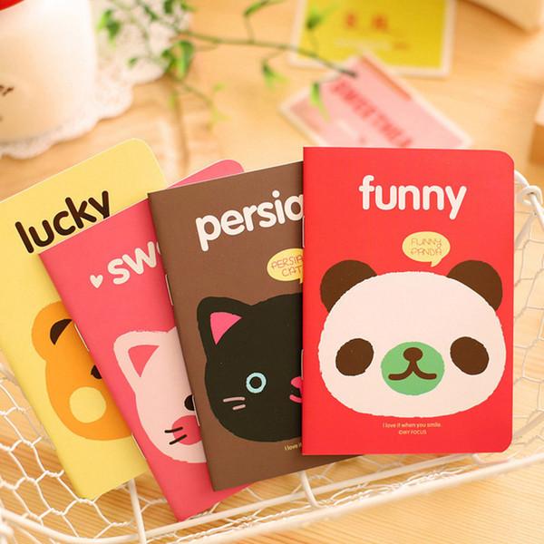 Cute Kawaii Cartoon Bear Cat Mini NotAnimal Diary Book Portable Notepad Memo Student Stationery Office School Supplies