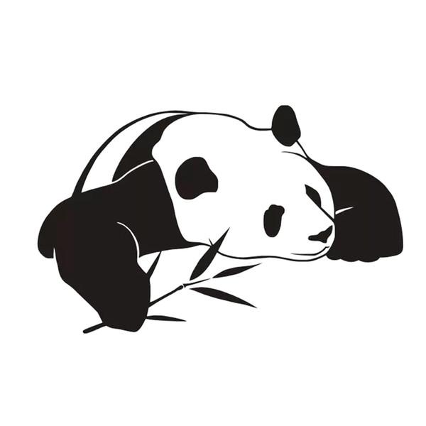 Yeni Stil Hayvan Ev Dekorasyonu PVC Su Geçirmez Kendinden Yapışkanlı Çin Panda Duvar Çıkartmaları Çocuk Yatak Odası Dekorasyon
