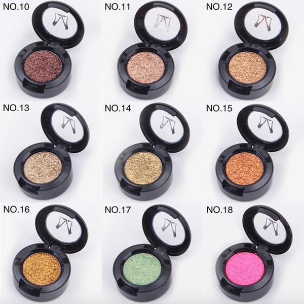 Miss Rose Brand Glitters Single Eyeshadow Diamond Rainbow Make Up Cosmetic Pressed Glitter Eye Shadow Palette 24 Colors