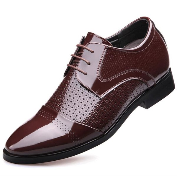 Men Oxfords for Men Dress Shoes Business Leather Shoes Breathable Summer Style Men Shoes with Holes