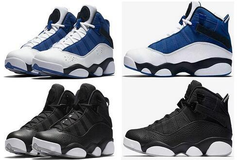 2017 new six 6 rings men basketball shoes French Blue Cool Grey Black Silver Grey Alternate Oreo Chameleon 6s sports shoes