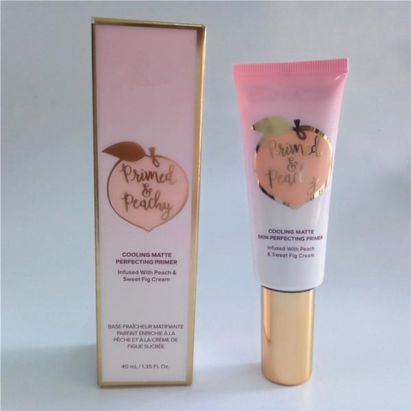 El más nuevo Primed Peachy Cosmetics 40ML Enfriamiento de la piel mate Perfecting Primer infundido con PeachSweet Fig Cream Faced Foundation Primer DHL