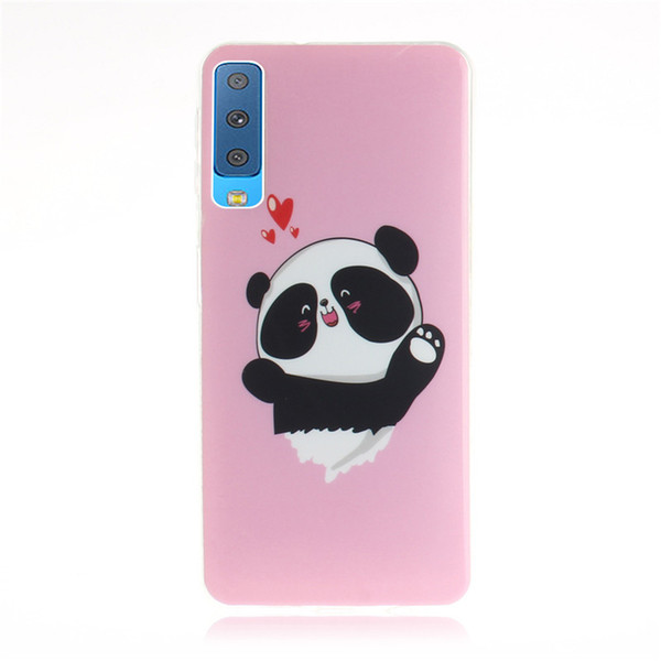 For Samsung Galaxy A7 2018 A730F Case Cover Fashion Soft TPU+IMD Animal bear cat Squirrel Flower pattern Mobile Phone Cases