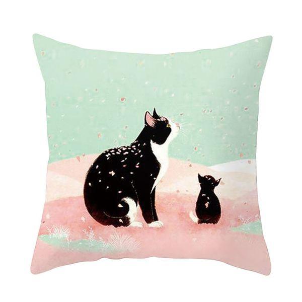 Super soft cute cat pumpkin pillow polyester pillow Square comfortable car home cushion pillowcase 2018 new