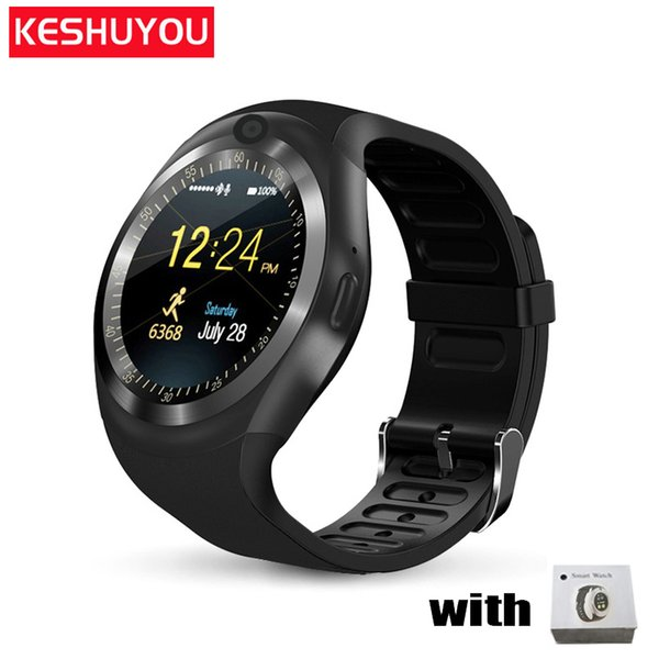 KESHUYOU fashion smart watch y1 plus android answer call wear band gear men smartwatch android compatible wearable devices phone