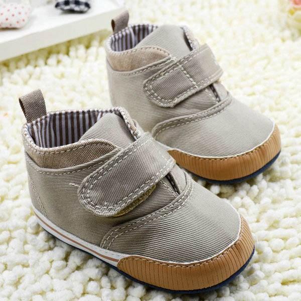 Çocuk Çocuk Yatağı Ayakkabı Sneaker İlk Walker Yenidoğan Bebek Boys Bilek Tuval Yumuşak Sole Antisilip İlkbahar Sonbahar Kış Ayakkabı