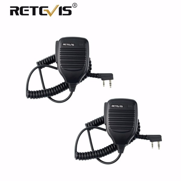 2pcs PTT Speaker Microphone Walkie Talkie MIC Accessories Kenwood For Baofeng Bf-888S UV-5R Retevis RT5R H777 RT3 RT22 RT7