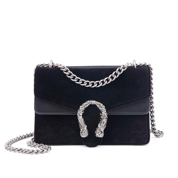 Novo modis Designer Mulheres Messenger Bag Cadeia De Veludo Pequeno Flap bolsa De Metal Decorativo Ombro Crossbody sac bolsas de moda Y18102304