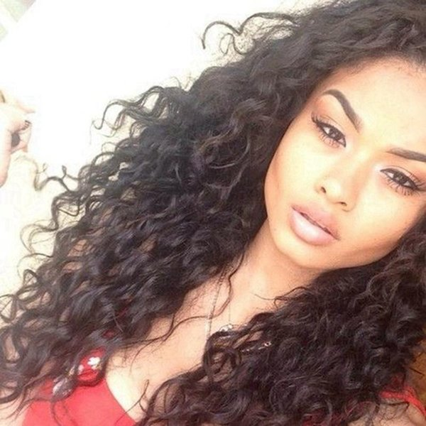 Loose Kinky Curly Full Lace & Front Lace Wigs With Baby Hair Virgin Brazilian Human Hair Wavy Wigs Density 150% DHL Free Shipping