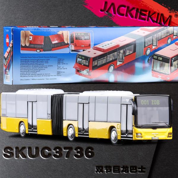 1:50 Ölçekli Adam Belden Şehir Otobüs Araba Siku 3736 Oyuncak Diecast Metal Model Eğitim Koleksiyonu Çocuk Hediye Ücretsiz Kargo