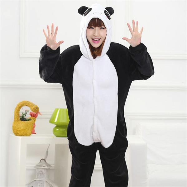 e712e59aa0 Cute panda pajamas hot autumn winter flannel pijama tracksuit animal lovers  men and women cartoon pajamas piece toilet Edition