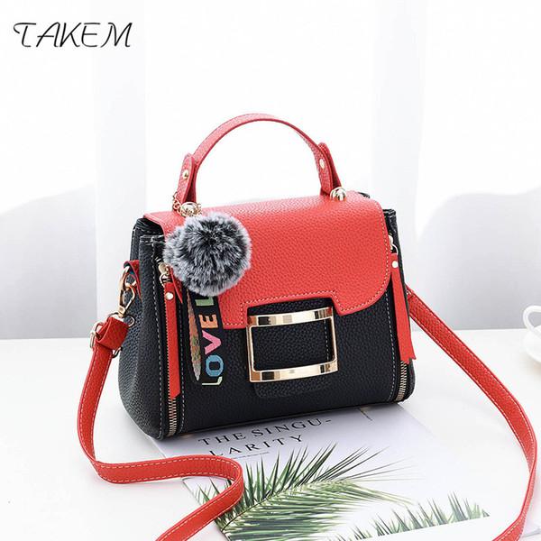 TAKEM NEW2018 Fashion hair ball Women Bag Ladies Handbag Luxury Handbags Women Bags Design Crossbody Bags for Bolsos Mujer