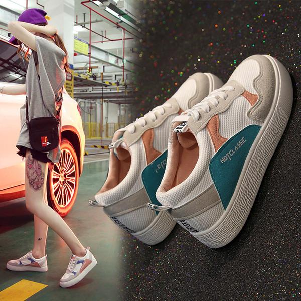 Sycatree 2018 nova versão coreana quente running shoes para as mulheres estudante respirável meninas flat shoes tendência confortável esporte