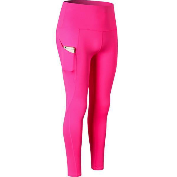 Slim Pocket Leggings Women Solid Color Fitness Workout Legging Elastic Ultra High Waist Pencil Pants Yoga Leggins Sports Tights