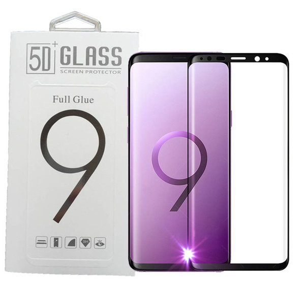 For Iphone X 10 Samsung S9 Note8 S8 Plus galaxy Note 8 Tempered Glass Full Screen color Protector 3D Curved S7 Edge SSC054