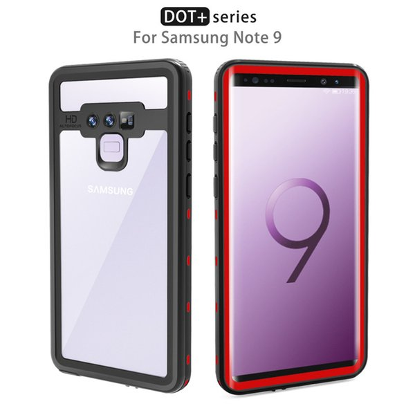 For Samsung Galaxy Note9 Red Papper IP68 Waterproof Snowproof Dropproof Dirtproof Shockproof Cell Phone Case Transparent Cover